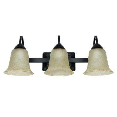 3-Light 24-Watt Warm White (3000K) Oil-Rubbed Bronze Integrated LED Bath Vanity Light Fixture