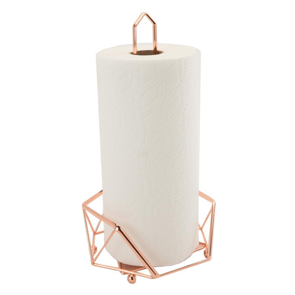 Geode Copper Paper Towel Holder
