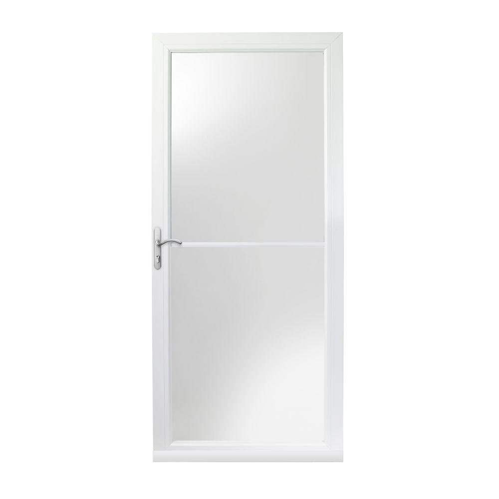 Andersen 36 in x 80 in 3000 series white left hand self for Andersen doors