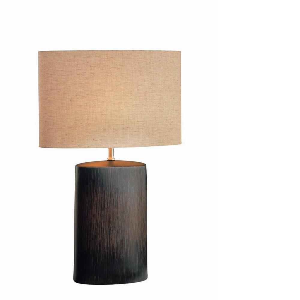 24 in. Antique Bronze Table Lamp