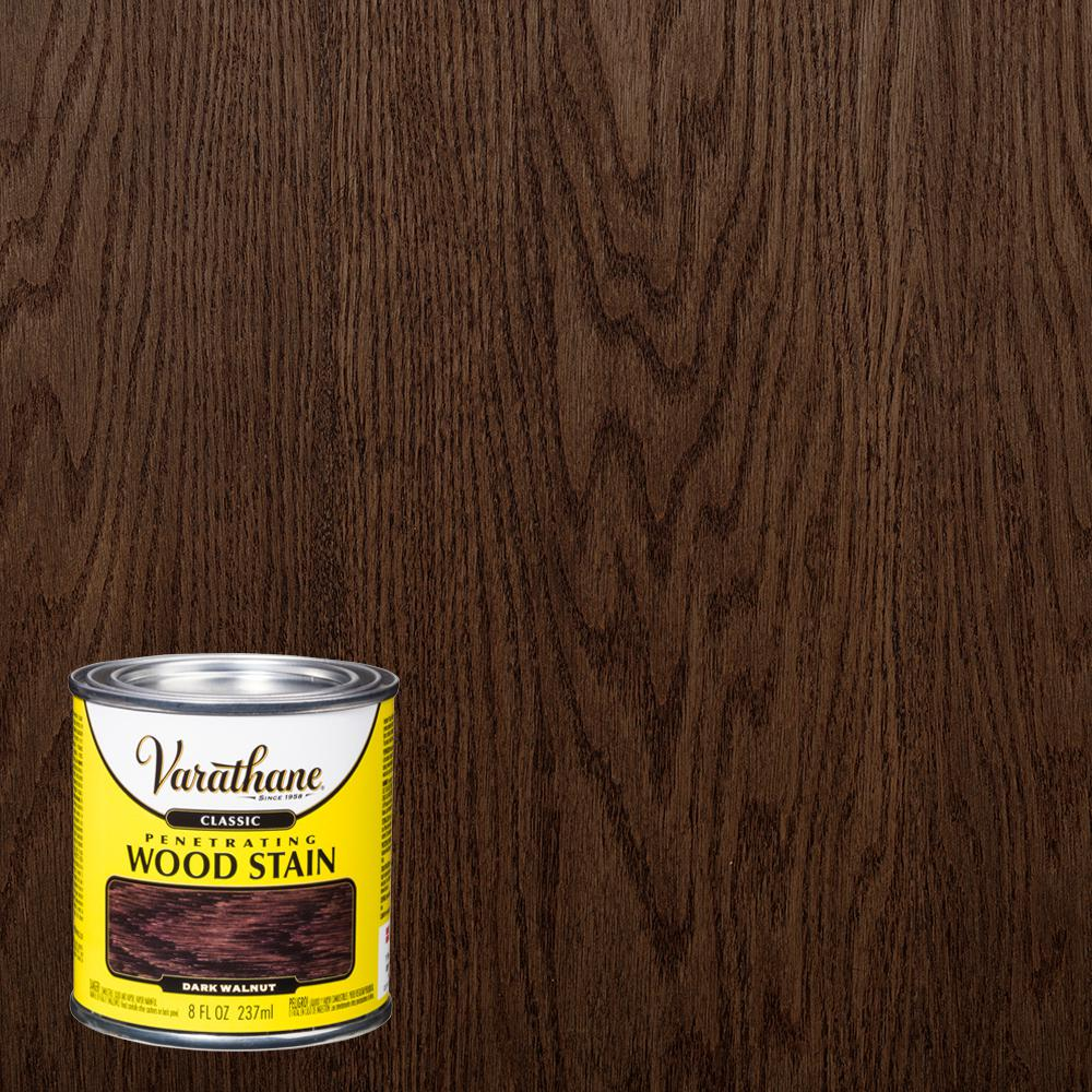 Varathane 8 oz. Dark Walnut Classic Wood Interior Stain (4-Pack)