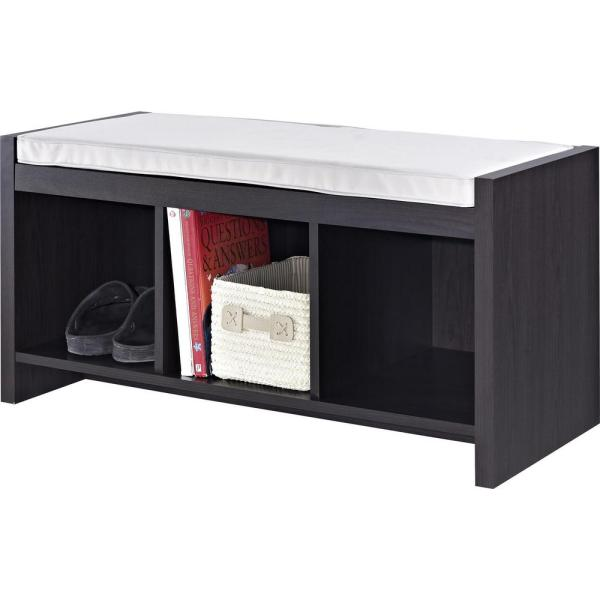 Ameriwood Home Pebblebrook Espresso Storage Bench Hd60325 The Depot