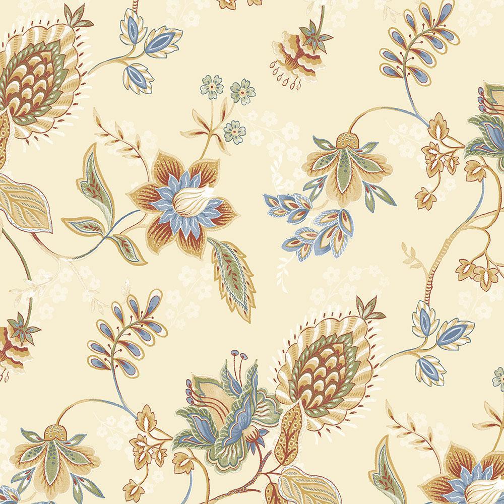 Norwall Jacobean Floral Wallpaper