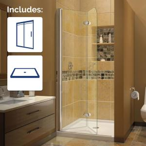 Dreamline Aqua Fold 32 In X 74 75 In Frameless Hinged