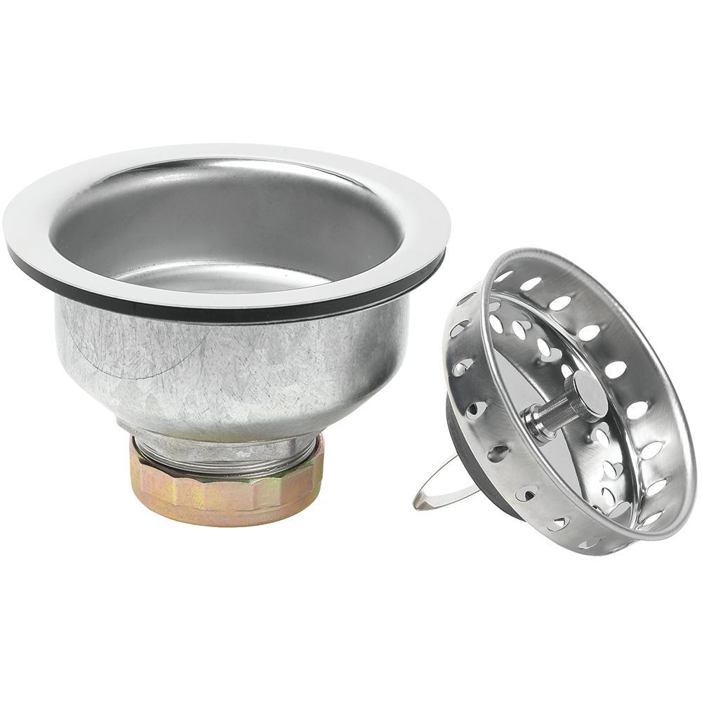 spring clip sink strainer in stainless steel - Kitchen Sink Parts