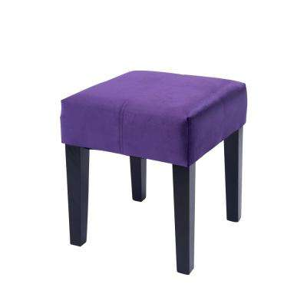 "Antonio 16"" Square Bench in Purple Velvet"
