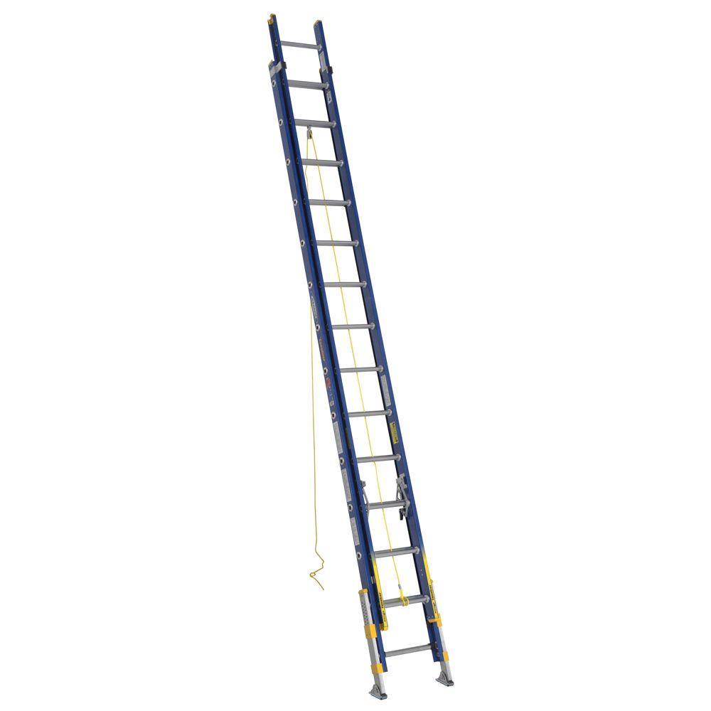 Werner 32 Ft Aluminum D Rung Extension Ladder With 300 Lb