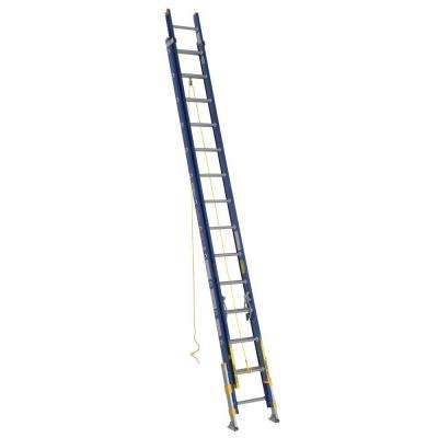 28 ft. Fiberglass D-Rung Equalizer Extension Ladder with 300 lb. Load Capacity Type IA Duty Rating