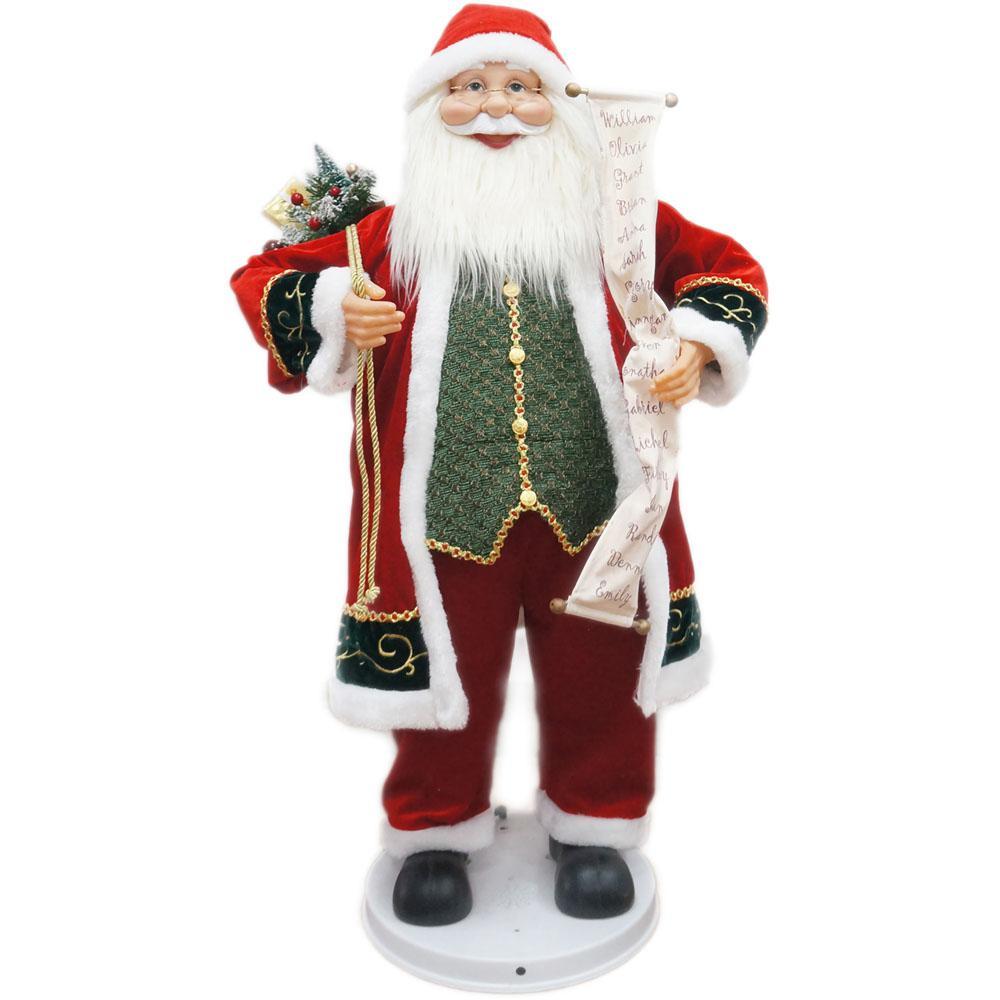 Fraser Hill Farm 36 in. Christmas Dancing Santa with Scroll-FASC036D ...