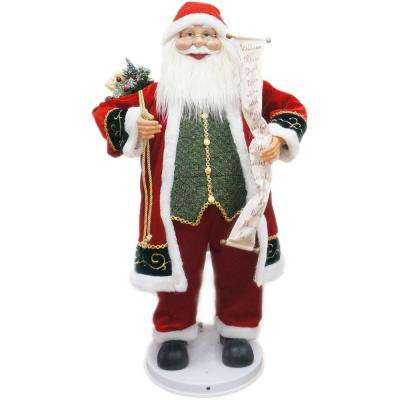 36 in. Christmas Dancing Santa with Scroll