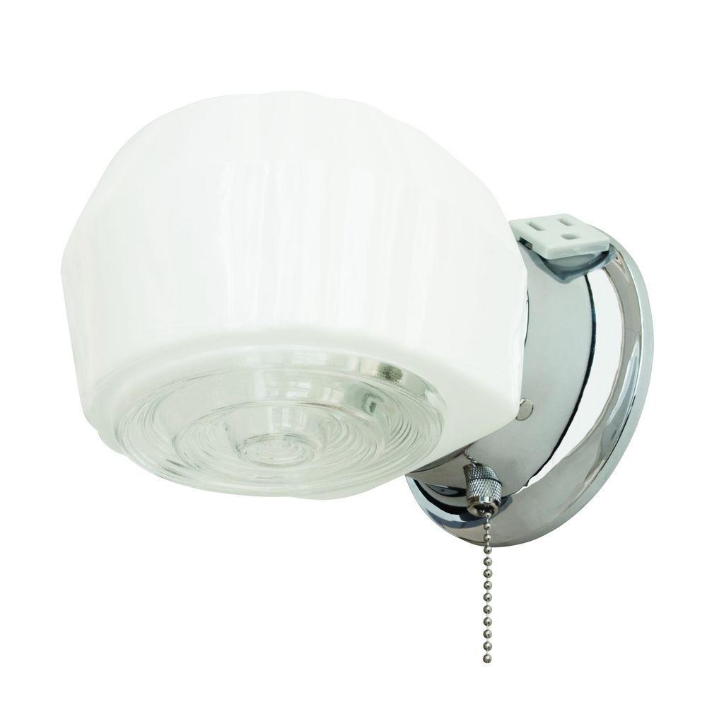 1-Light Chrome Bath Light
