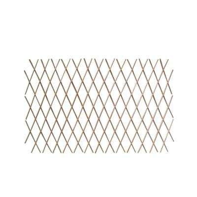 24 in. H x 72 in. W Expandable Peeled Willow Trellis Fence (2-Pack)