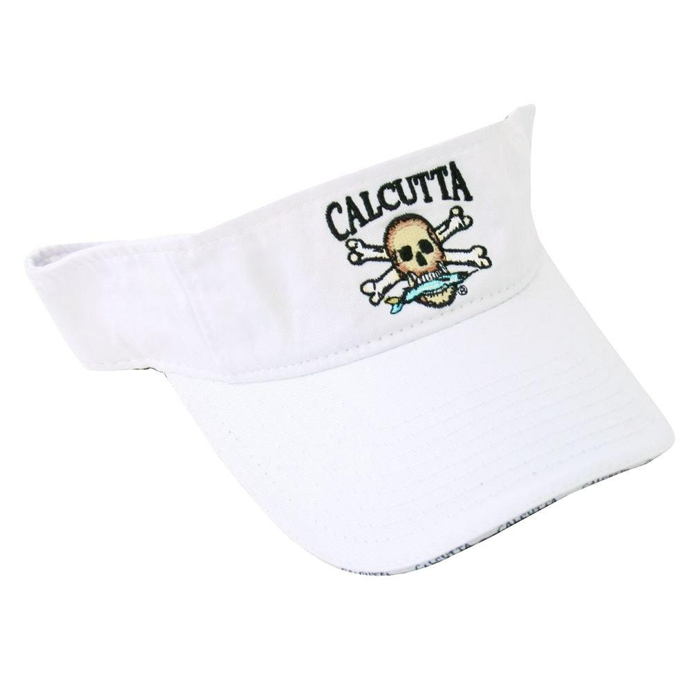 Calcutta Adjustable Strap Low Profile Visor in White with Fade-Resistant Logo