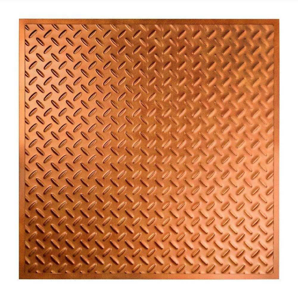Diamond Plate - 2 ft. x 2 ft. Revealed Edge Lay-in