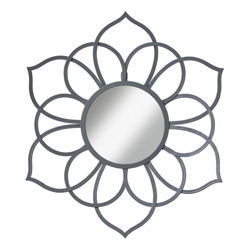 Brienne Flower Gray Mirror