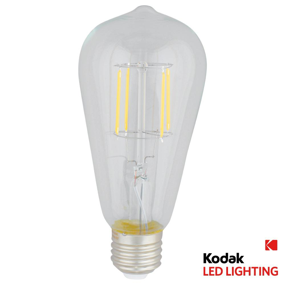 Kodak 40w Equivalent Warm White Vintage Filament St64 Dimmable Led Light Bulb 41098 Ul The