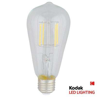 40W Equivalent Warm White Vintage Filament ST64 Dimmable LED Light Bulb