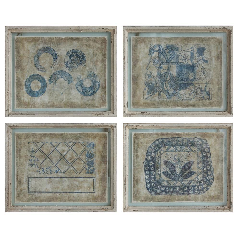 16.75 in. x 20.63 in. Wood Framed Wall Art