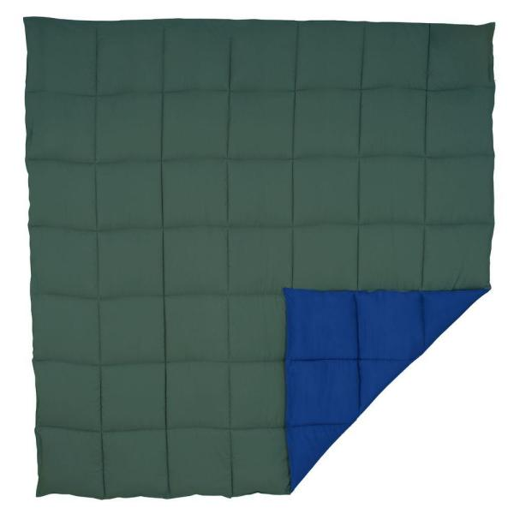 Lavish Home Reversible Green/Navy Down Alternative Twin Comforter 64-14-T-GN