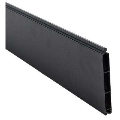 0.41 ft. x 5.91 ft. Euro Style Black Aluminum Metal Fence Panel