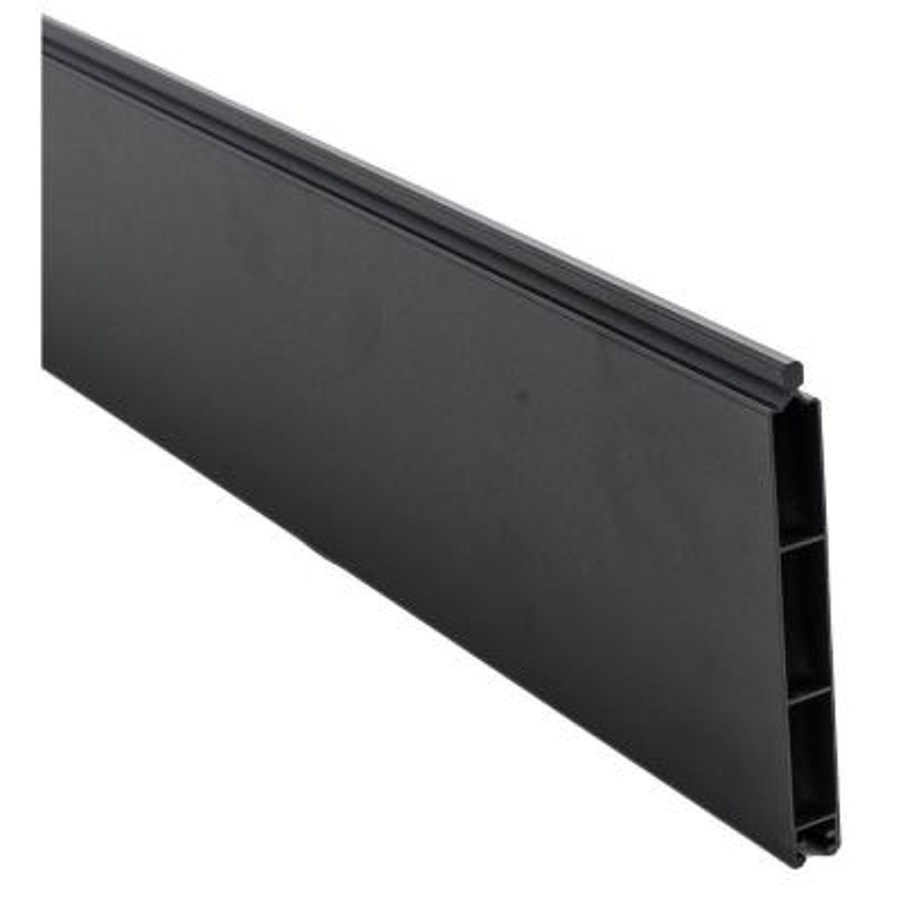 0.41 ft. x 5.91 ft. Euro Style Black Aluminum Metal Fence Panel
