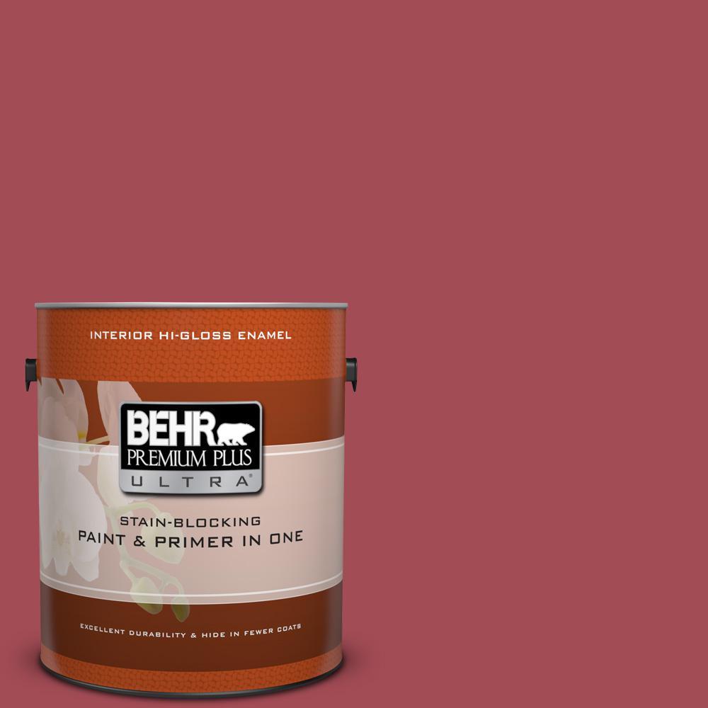 BEHR Premium Plus Ultra 1 gal. #hdc-FL15-02 Cranberry Jam Hi-Gloss Enamel Interior Paint