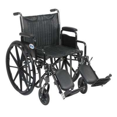 Silver Sport 2 Wheelchair, Desk Arms, Elevating Legrests and 20 in. Seat
