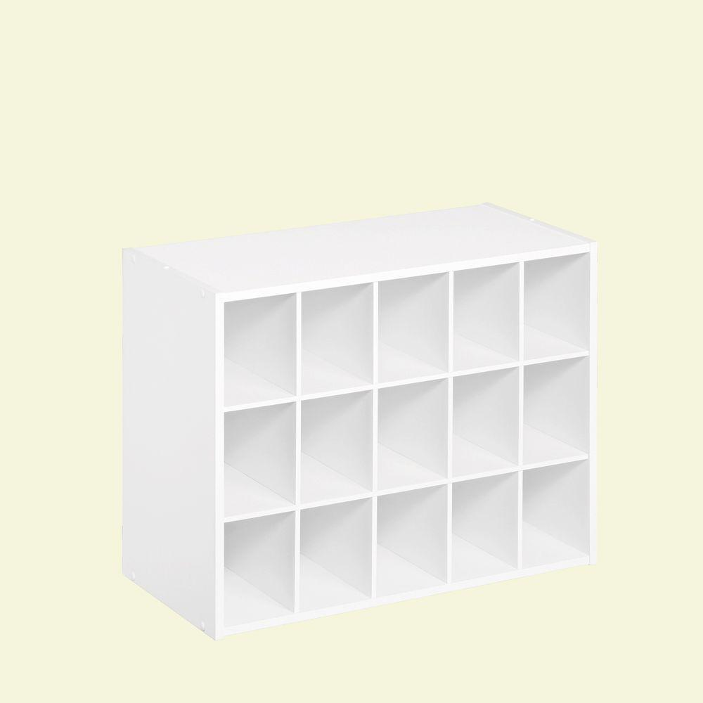 Closetmaid 24 In W X 19 In H White Laminate 15 Cube Organizer