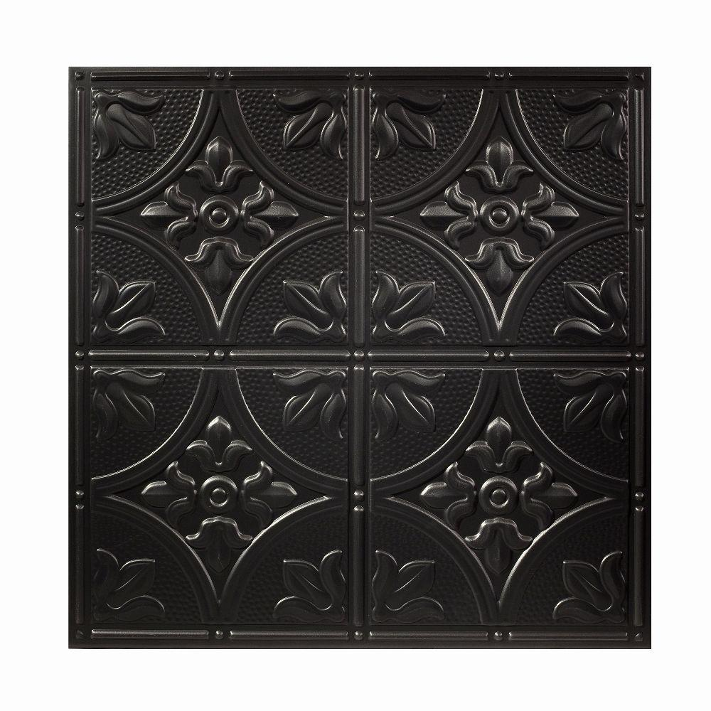 Genesis 2 ft. x 2 ft. Antique Black Ceiling Tile