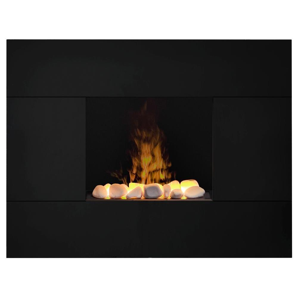 dimplex tate 35 in wall mount electric fireplace in black tah20r