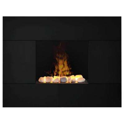 Tate 35 in. Wall-Mount Electric Fireplace in Black