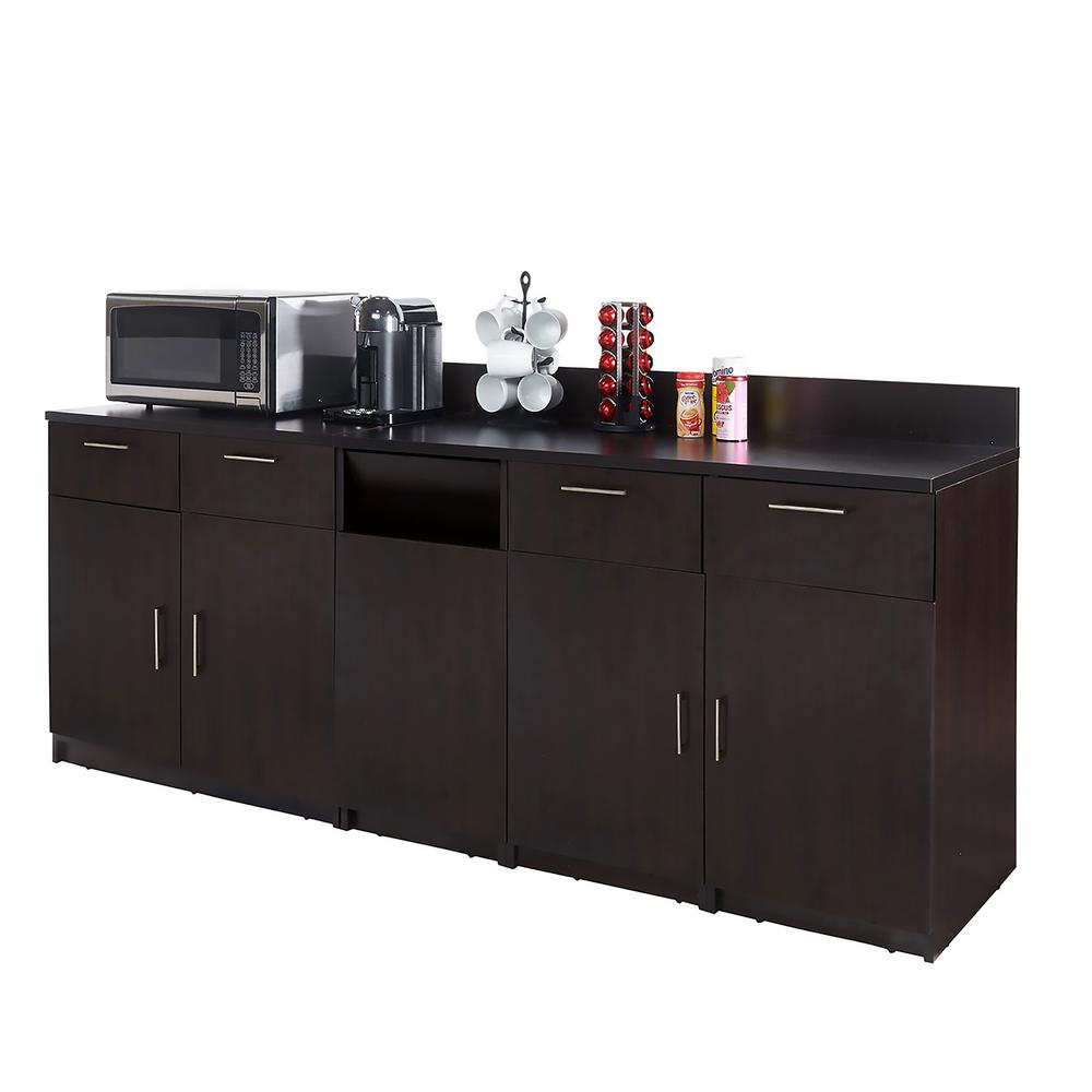 Coffee Kitchen Espresso Sideboard with Lunch Break Room Functionality with