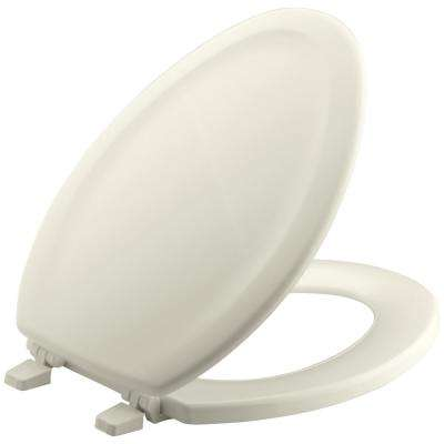 Stonewood Elongated Closed Front Toilet Seat in Biscuit