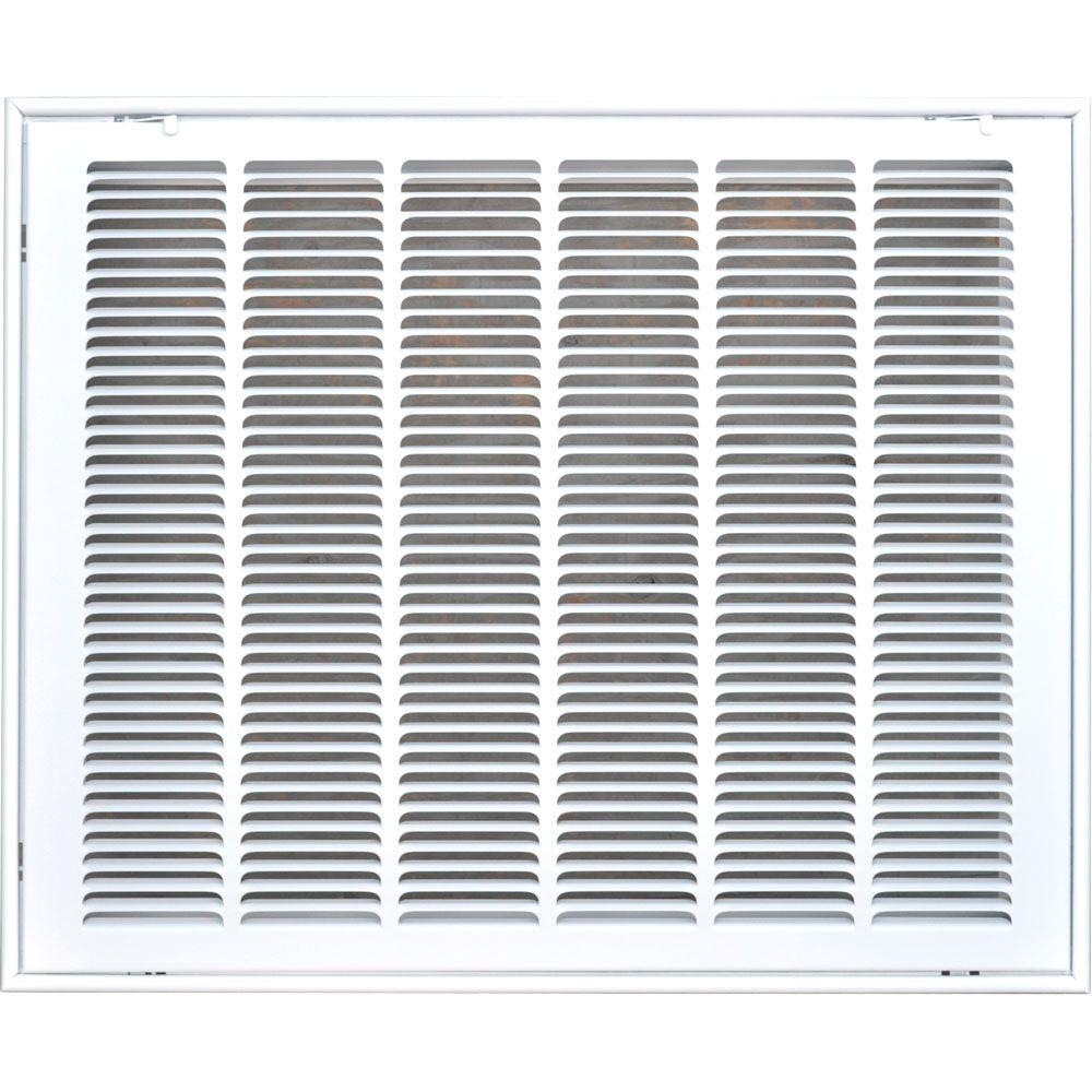25 in. x 20 in. Return Air Vent Filter Grille, White with...
