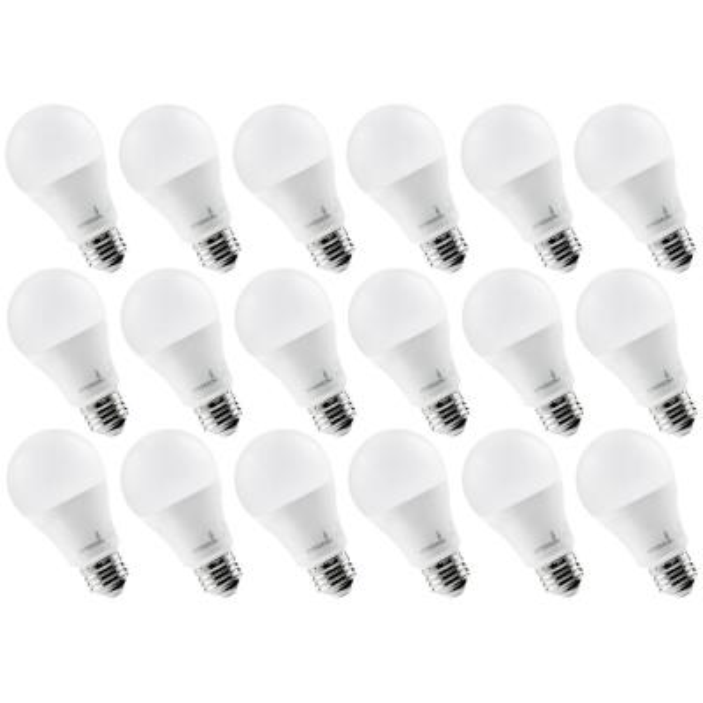 60-Watt Equivalent 9-Watt A19 Not Dimmable LED Light Bulb 4000K Day light (18-Pack)