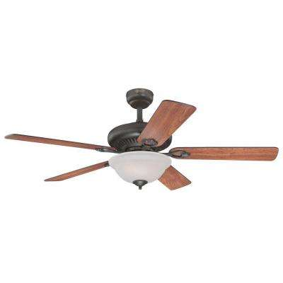 Fairview 52 in. Indoor Oil Rubbed Bronze Finish Ceiling Fan