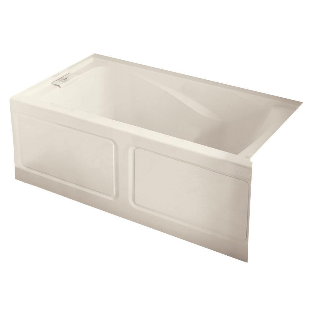 American Standard EverClean 5 ft. x 32 in. Left Drain Soaking Bathtub with Integral Apron in Linen