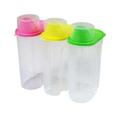 Large BPA-Free Plastic Food Saver, Kitchen Food Cereal Storage Containers with Graduated Cap (Set of 3)