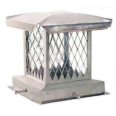 E-Series 8 in. x 8 in. Adjustable Stainless Steel Chimney Cap