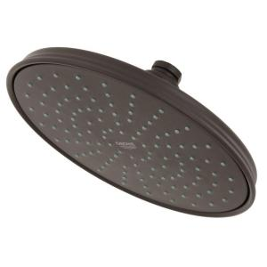 GROHE Rain Shower 1-Spray 8 in Fixed Shower Head in Oil Rubbed Bronze by GROHE