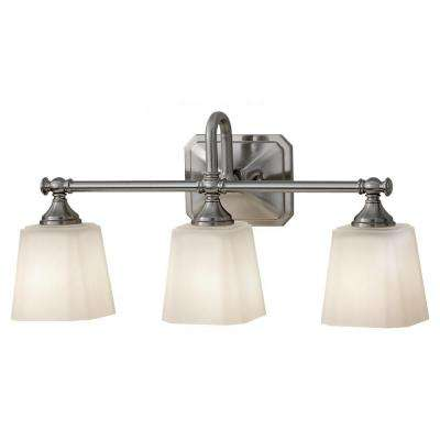 Concord 3-Light Brushed Steel Vanity Light