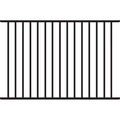 Beechmont Heavy-Duty 4 ft. H x 6 ft. W Black Aluminum Pre-Assembled Fence Panel