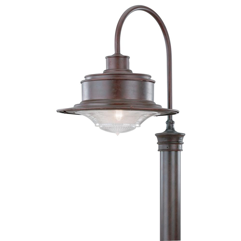 Troy Lighting South Street Outdoor Old Rust Post Light