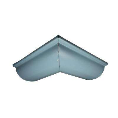 6 in. Half Round Traditional Blue Aluminum Outside Miter