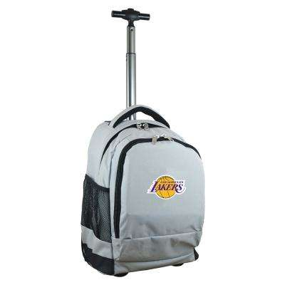 NBA Los Angeles Lakers 19 in. Gray Wheeled Premium Backpack