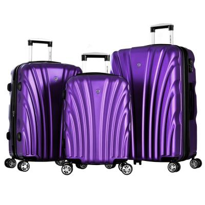 Vortex Purple 3-Piece PET Hard Case Set with TSA