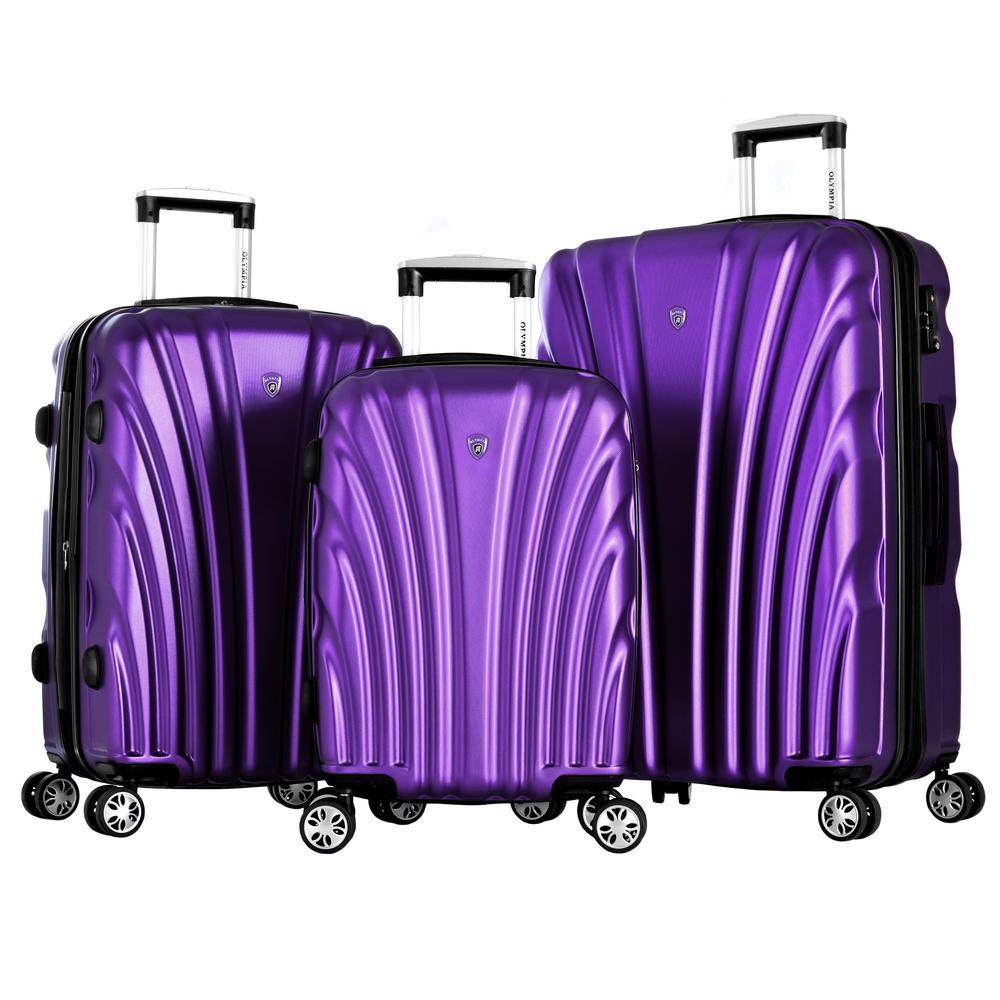 Vortex Purple 3-Piece PET Hard Case Set with TSA