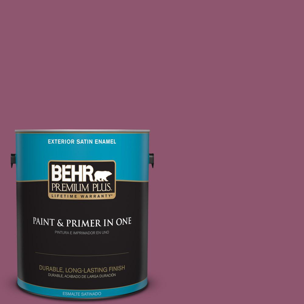 1 gal. #PPU1-17 Majestic Orchid Satin Enamel Exterior Paint