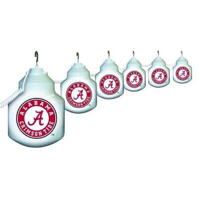 6-Light Outdoor University of Alabama String Light Set