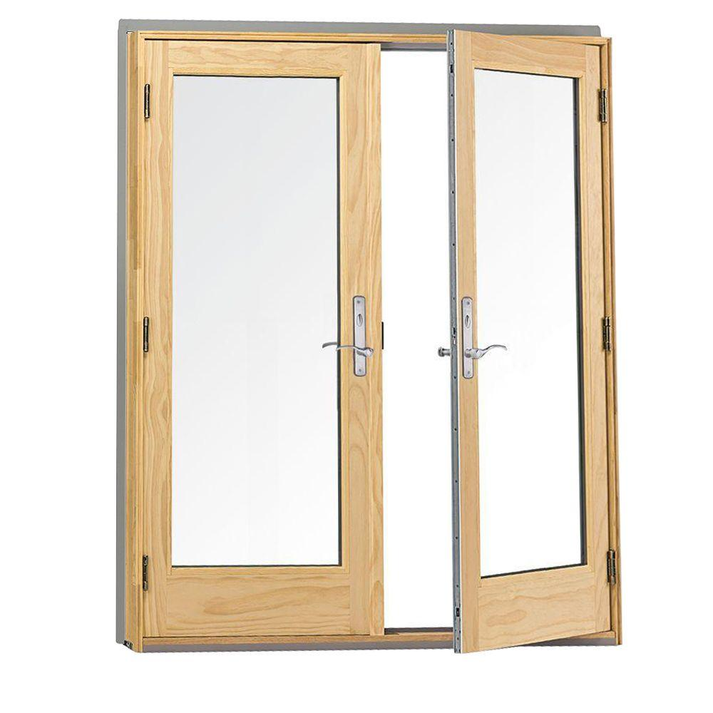 Andersen 72 In X 80 In 400 Series Frenchwood White Hinged Inswing Patio Door